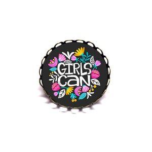 Girls Can Brooch Pin